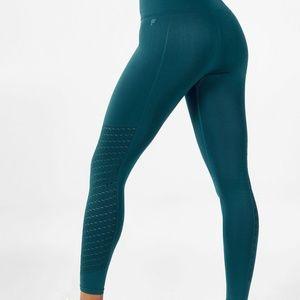 Fabletics leggings: Seamless High-Waisted Mesh 7/8